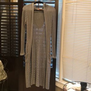 Belldini long hooded cardigan in EUC